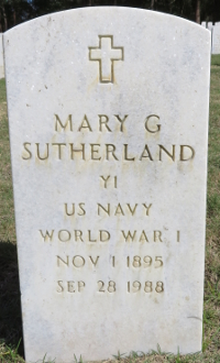 MARY SUTHERLAND grave marker