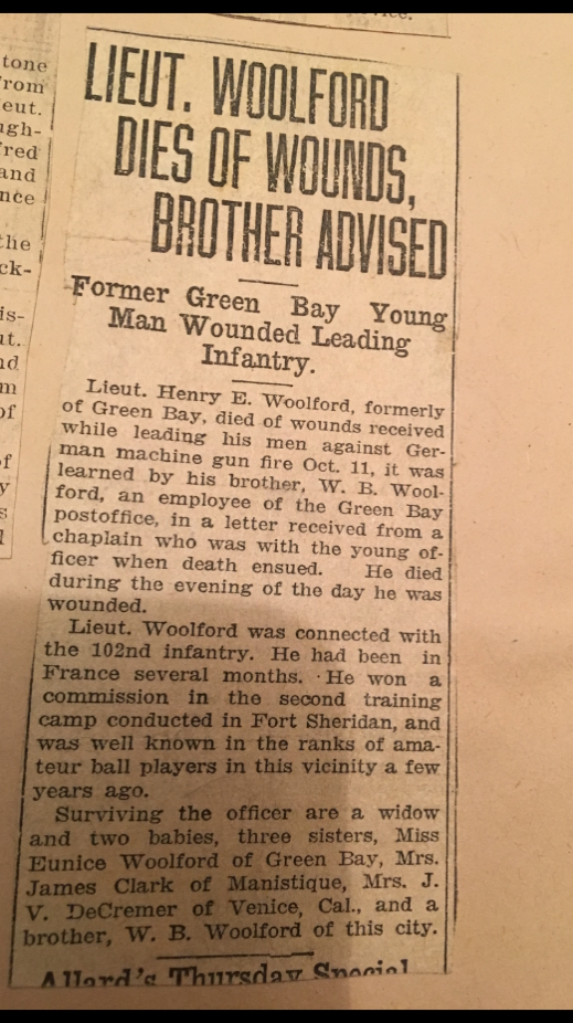 Henry Woolford Death Notice